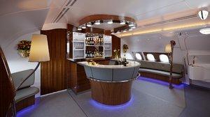3D emirates a380 800 class