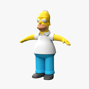 homer simpson character 3D model