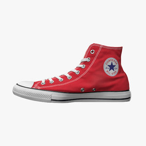 converse star sneakers 3D