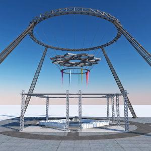 modern design steel festival 3D model