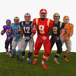 pack american football player 3D