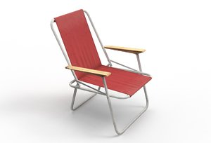 3D camp chair model