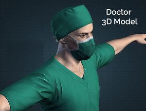 doctor coronavirus 3D