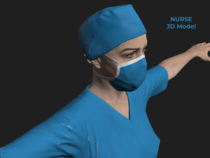 3D model nurse coronavirus hospital