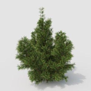 3D tree needles