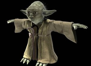 3D yoda star wars rigged
