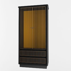 3D cabinet 2000x900x500 mm