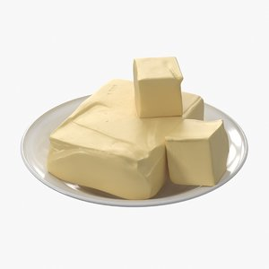 realistic butter 3D model