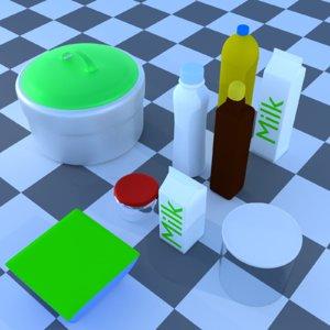 3D kitchenware model