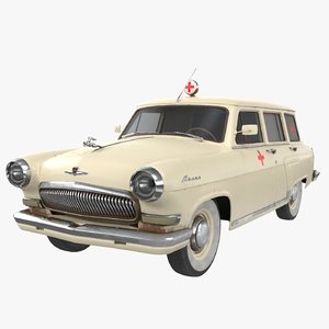 gaz-22e ambulance vehicle 3D model
