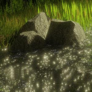 stones natural 3D model
