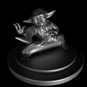 yoda sculpture star 3D model