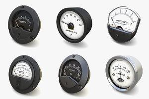 vintage ammeters vol 3 3D
