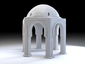 eastern dome exterior 3D model