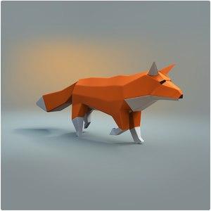 fox rigged 3D
