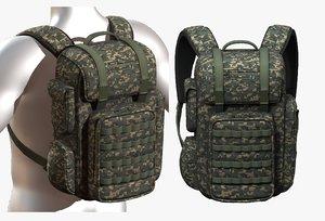 fashion bag backpack 3D model