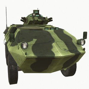 3D model grizzly vehicle combat