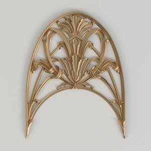 carved cnc decor 3D model