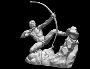 hercules arrow sculpture 3D model