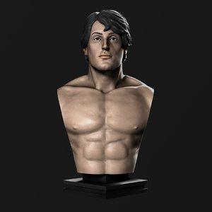 printing bust rocky balboa 3D model