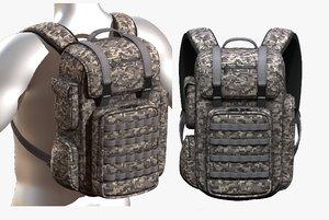 3D fashion bag backpack model
