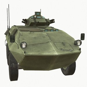 grizzly apc vehicle 3D
