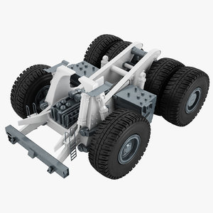 3D model mining truck chassis