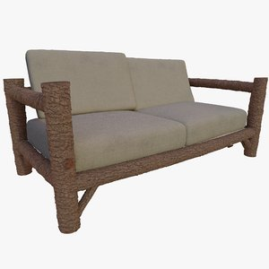 3D sofa rustic model