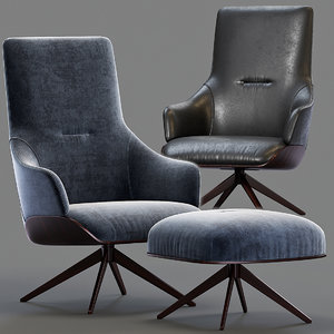 kensington molteni armchair 3D model