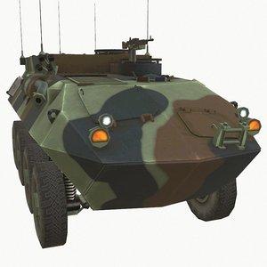 3D lav amphibious vehicle