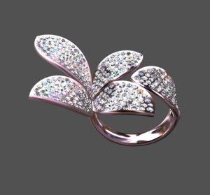 anello fiore 3D