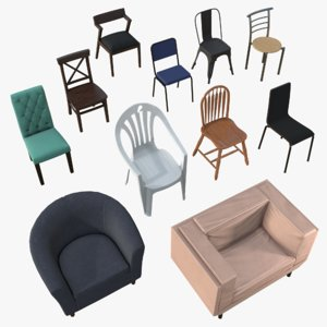 3D chairs realtime metals
