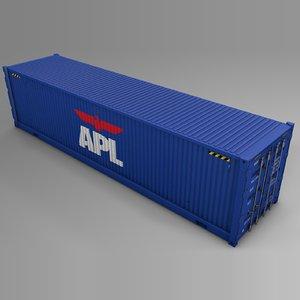 3D apl cargo container l716 model