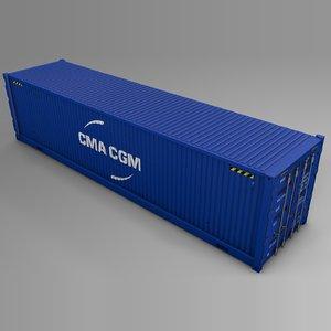 3D cma cgm cargo container