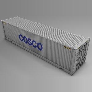 3D cosco cargo container l718 model