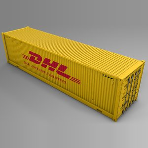 dhl cargo container l720 3D model