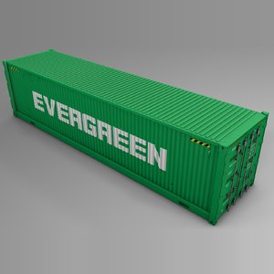 3D evergreen cargo container l721