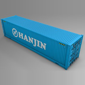hanjin cargo container l725 3D