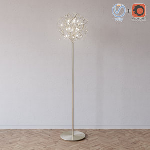 3d model floor lamp dimanond ball