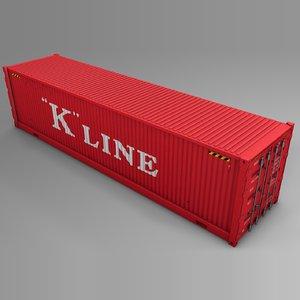 3D model k line cargo container