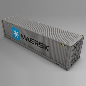 maersk cargo container l729 3D