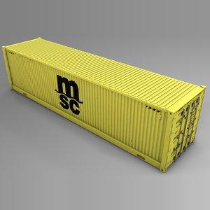 msc cargo container l731 3D model