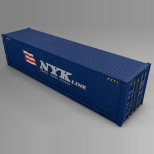 nyk line cargo container 3D