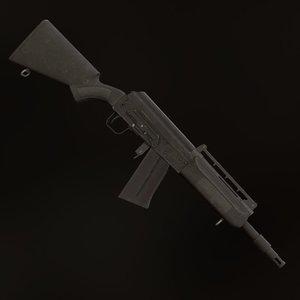 shotgun gun weapon 3D model