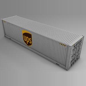 3D ups cargo container l736