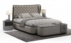 3D model margot bedroom media lifestyle