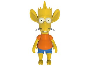 bart simpson rigged character 3D model