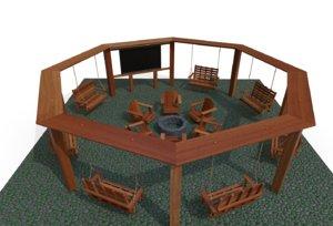 pergola 3D model
