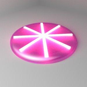 3D model night frisbee
