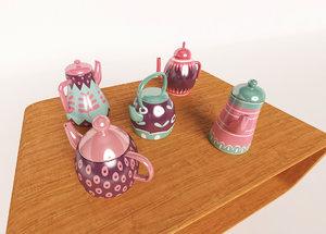3D tea teapot